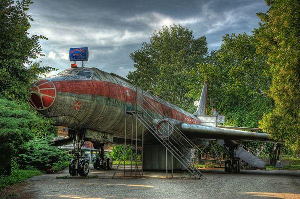 Aeroplane Bar Letka Tu-104 in Olomouc, Czech Republic - I never actually got inside.  It was always closed.