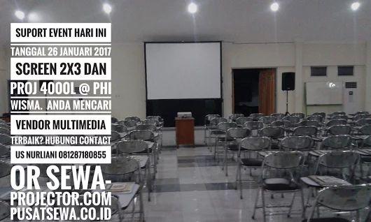 Penyewaan Proyektor 4000L dan screen 2x3 @ TMMIN . 27 Januari 2017 - Sewa projector infocus dan multimedia murah Jakarta Bogor Tangerang Depok Bekasi Bandung call Hotline 24 jam 081287180855