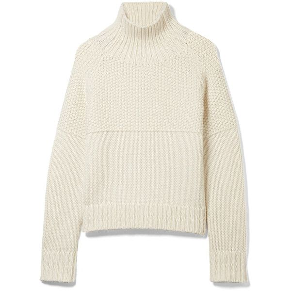 Burberry Dawson cashmere turtleneck sweater ($795) ❤ liked on Polyvore featuring tops, sweaters, white, layered sweater, cashmere turtleneck sweaters, white sweater, white turtleneck and ribbed turtleneck sweaters