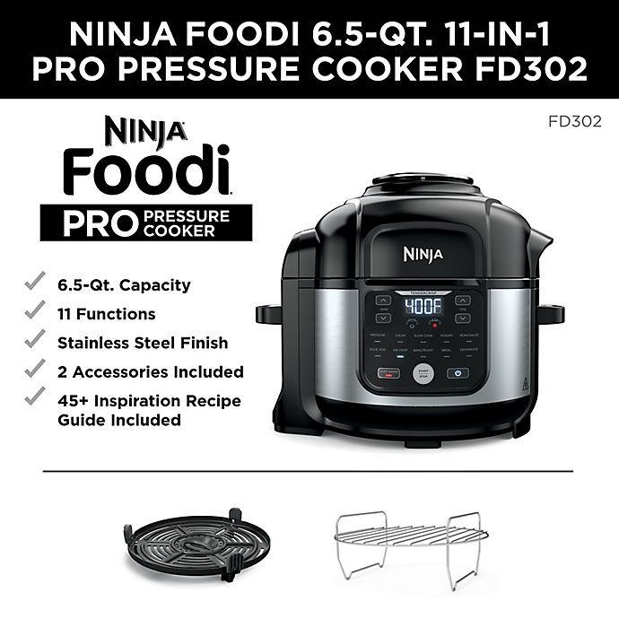 Ninja Foodi 6 5 Qt 11 In 1 Pro Pressure Cooker Air Fryer With Stainless Finish Bed Bath Beyond Cooker Pressure Cooker Keep Food Warm