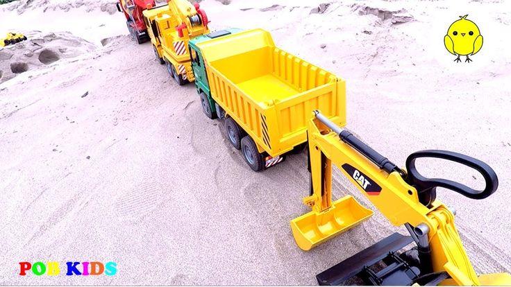 Concrete truck, excavator truck for children, Construction truck, car to...