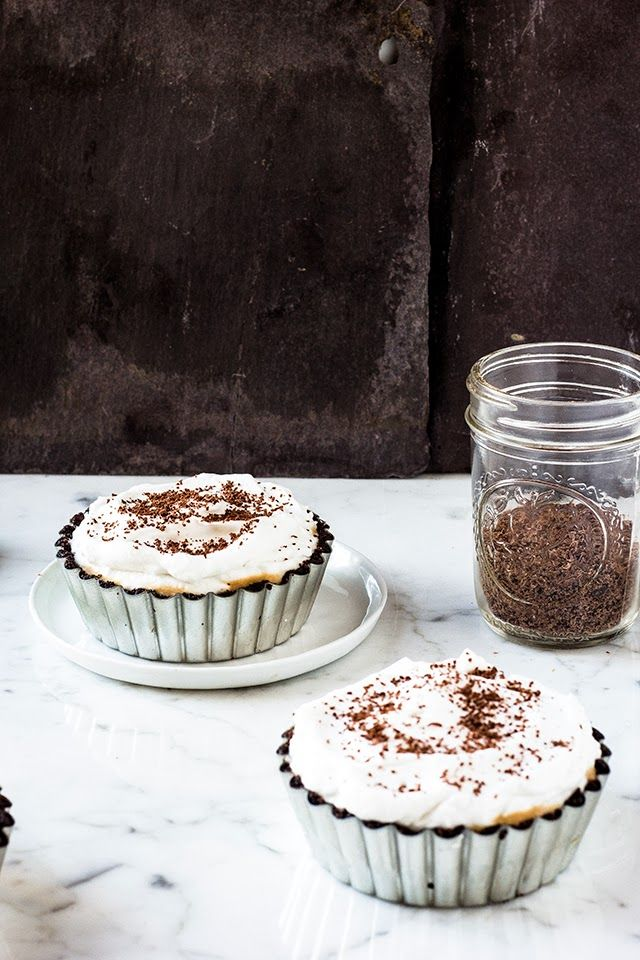goats milk dulce de leche oreo banoffee tarts with coconut whipped cream