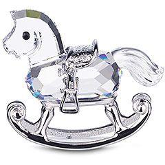 Swarovski Kristall Österreich Schaukelpferd mit Rhodinierter SW032 €29.89 kaufen bei http://www.bf-tv.at/