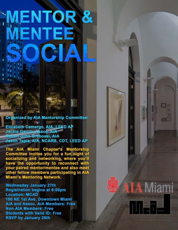 AIA Miami Mentor Mentee Social Tickets Wed Jan 27 2016 At 6
