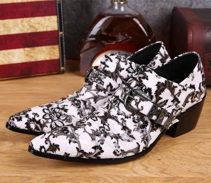 >> Click to Buy << 2017 New Fashion White Party Dress Shoes Genuine Leather Oxfords Shoes for Men Heel Masculino Wedding Boots Plus Size 44 45 46 #Affiliate