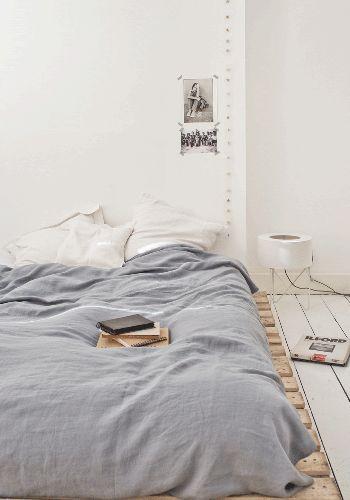 Linen duvet cover 220 x 240 cm  lindo el tono gris-azuloso!