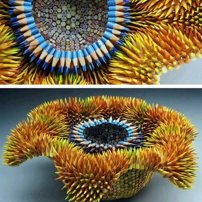 Lápis: Art Sculpture, Creative Pictures, Pencil Sculpture, Colors Pencil Artworks, Sea Urchins, Products Design, Colored Pencils, Jennifer Maestr, Sculpture Art