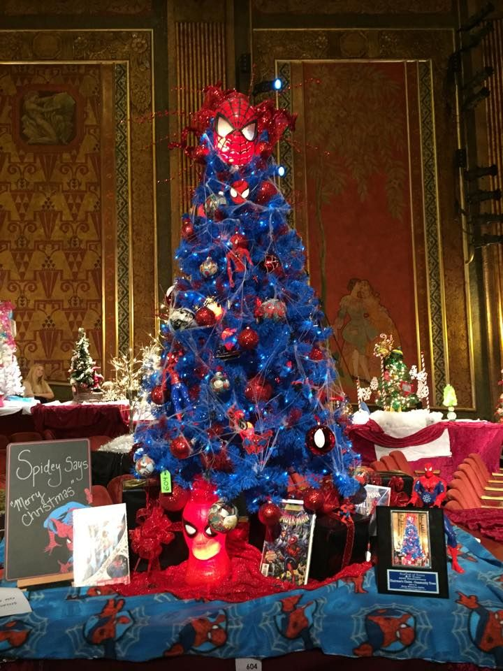 Festival of Trees and Trains 2014 Spiderman Tree