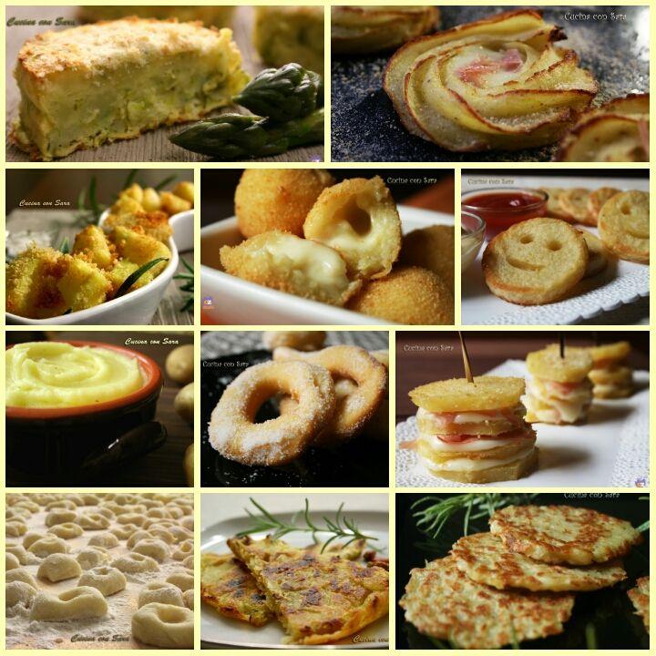 Ricette con patate, una raccolta di ricette con le patate come ingrediente principale. Ricette sia dolci che salate, ricette per tutti i gusti!