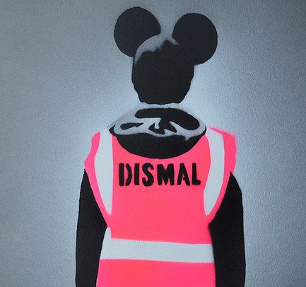 Dismal artwork for the book on Banksy's Dismaland by Bryn Youds