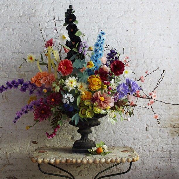 Beautiful paper flower arrangement Instagram photo by @thegreenvase • 94 likes