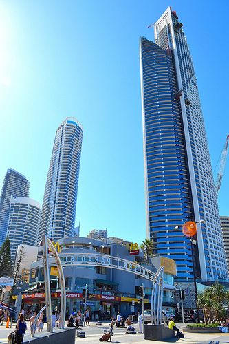 "Surfers Paradise, Gold Coast QLD Australia. I miss that ""Macca's"" on the corner with the $5 Feed. Soooo good."