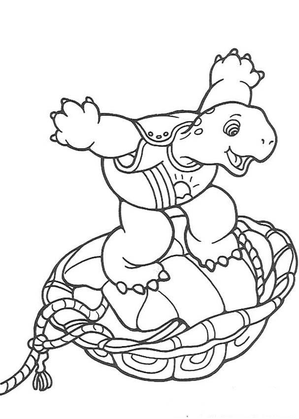 Franklin Up Shell Coloring Pages For Kids Printable