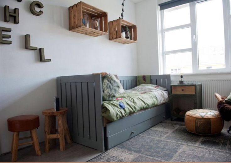 "This sturdy boys bedroom is from our feature ""Go Bold"""