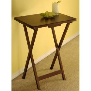 Winsome Wood Tv Table Antique Walnut Finish Set Of 4
