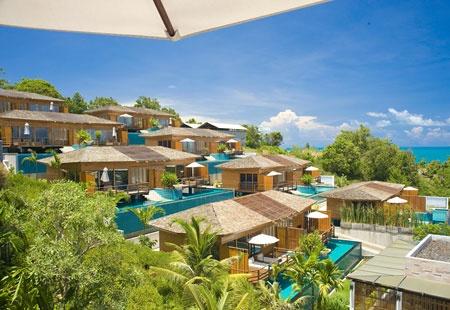 KC Resort, Koh Samui, Thailand - glass floor in the bedroom to watch the ocean!