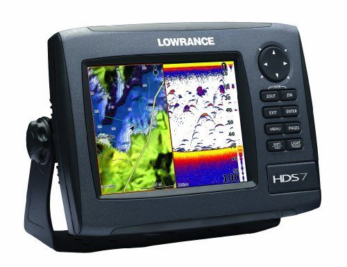 Lowrance HDS-7 GEN2 Plotter/Sounder, with 6.4-inch LCD, Limited Basemap, and 83/200KHz Transducer. by Lowrance, http://www.amazon.com/dp/B006M376BU/ref=cm_sw_r_pi_dp_0k0Zqb0CH1CXH