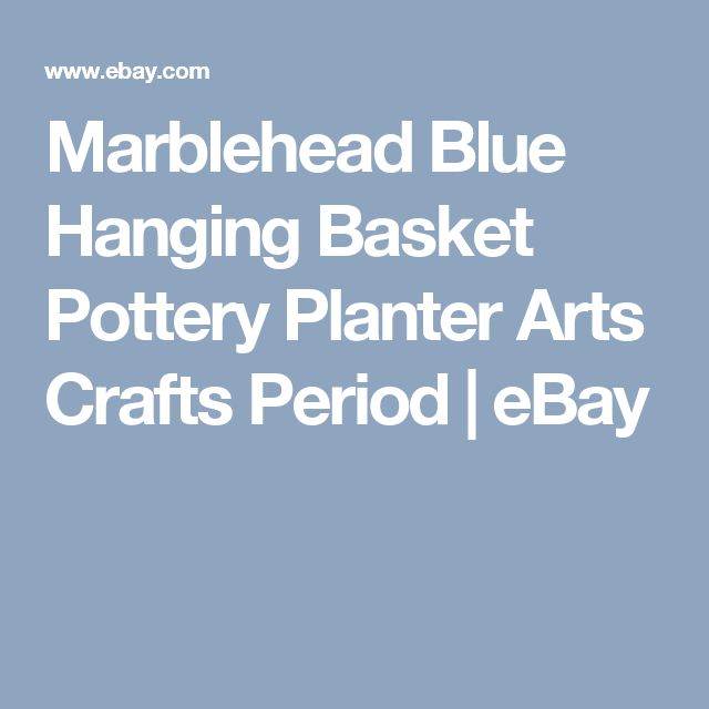 Marblehead Blue Hanging Basket Pottery Planter Arts Crafts Period   eBay