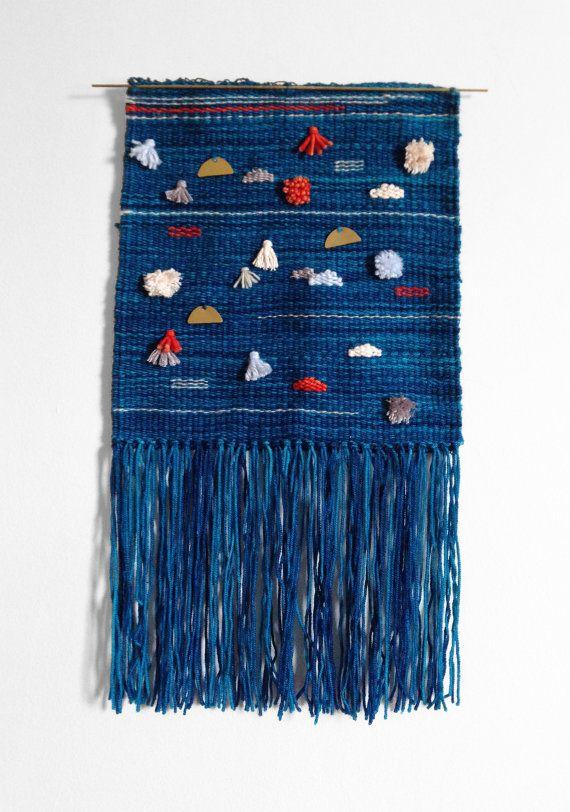 Hieroglyph II Tapestry - Wall hanging, tapestry, woven wall art, weaving