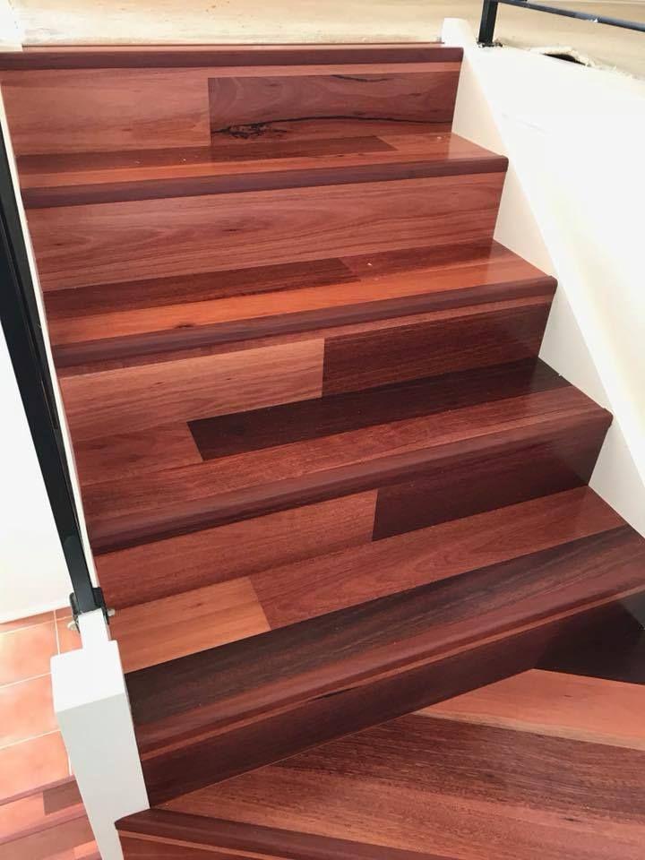Now This One S A Beauty Stairs And Dinning Laid In Jarrah Timber Macarthurfloors Macarthu Wood Floors Wide Plank Hardwood Floors Installing Hardwood Floors