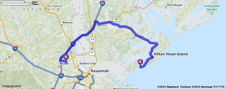 Official Mapquest Maps Driving Directions Live Traffic >> Driving Directions from 232 S Sea Pines Dr, Hilton Head