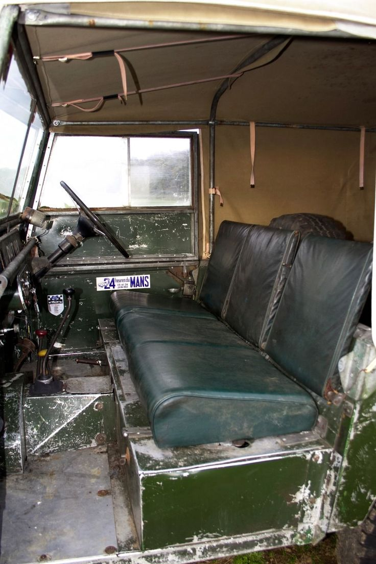 """1952 Land Rover Series 1 80"""" station wagon. Interior details view. Love it!"""