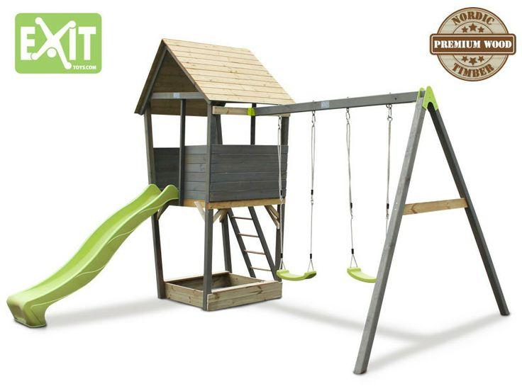 das spielger t f r den garten aufstellen kinder spielturm exit aksent spielturm spielturm. Black Bedroom Furniture Sets. Home Design Ideas