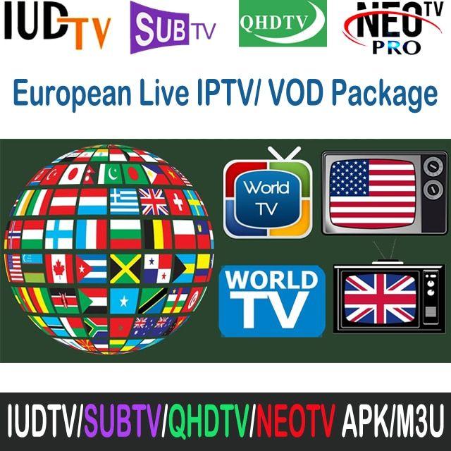 Best iptv supplier of IUDTV QHDTV SUBTV NEOTV French Arabic