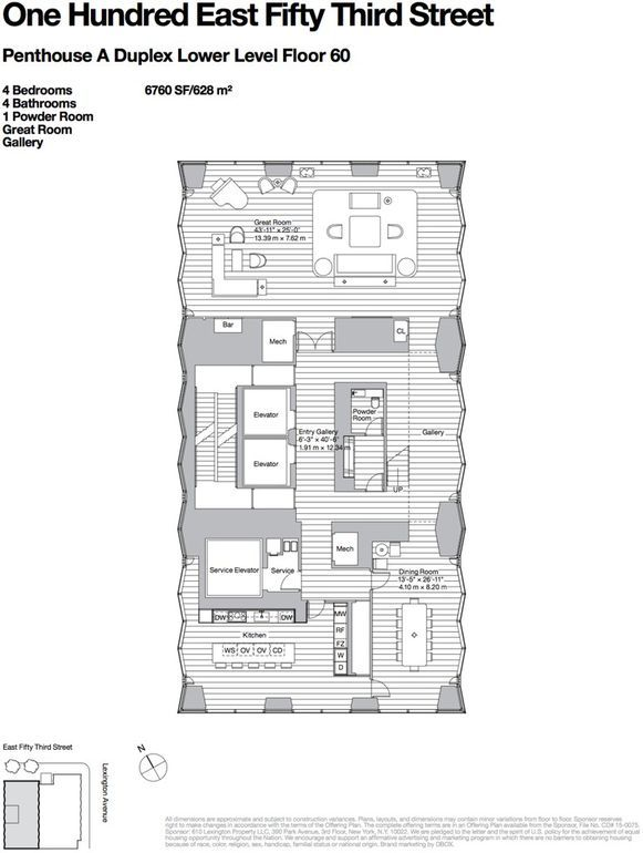 100 E 53rd St Unit Ph Manhattan Ny 10022 Foster Partners Great Rooms Floor Plans