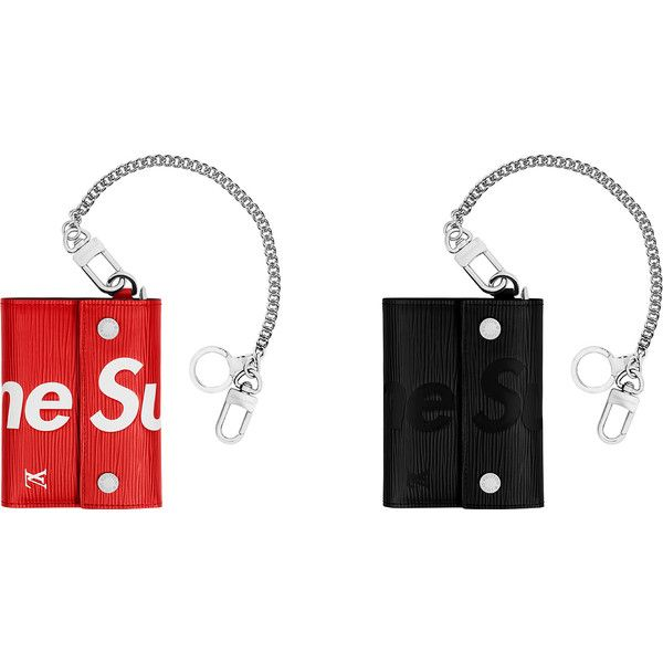 Supreme Louis Vuitton/Supreme Chain Wallet ❤ liked on Polyvore featuring bags, wallets, louis vuitton bags, louis vuitton, louis vuitton wallet, white bag and chain wallet