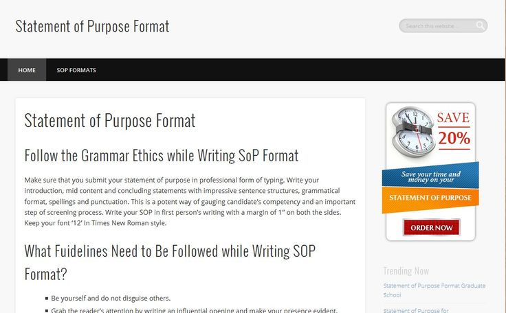 WOW!!! great offer Statement of Purpose Formatjust \ 20 save go - sop format