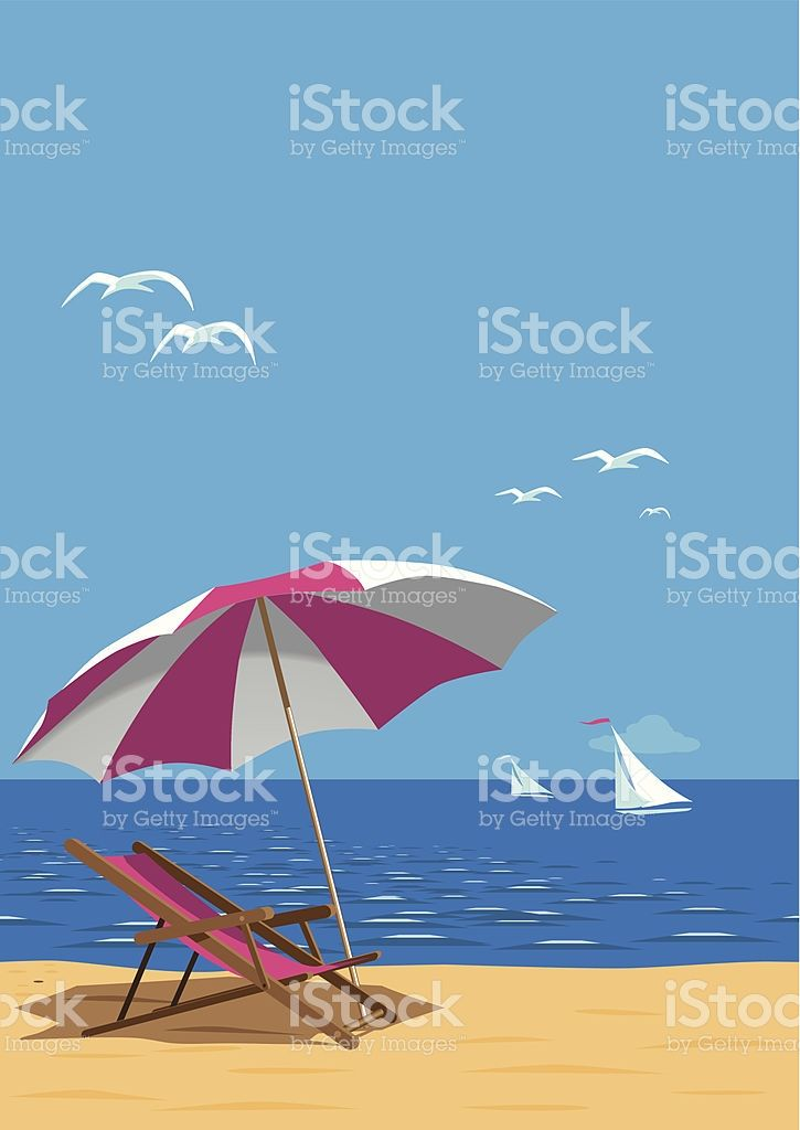 Plaża Plakat stockowa ilustracja wektorowa royalty-free