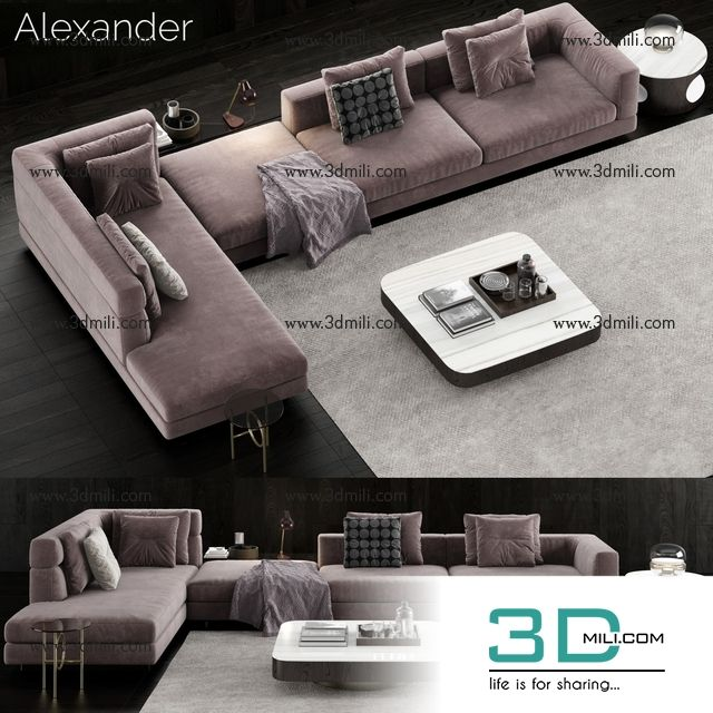 592 Minotti Alexander Sofa Free Download Living Room Sofa Design Sofa Layout Luxury Furniture Living Room