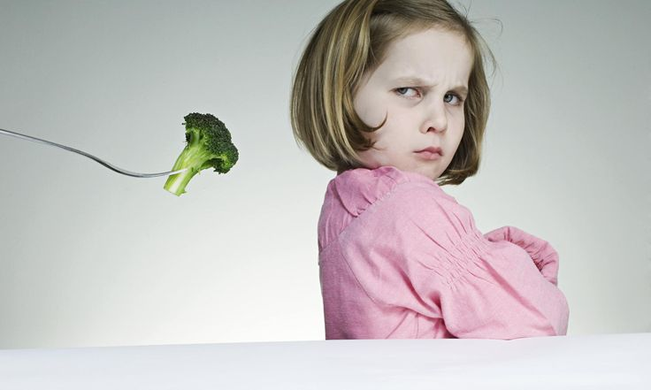 """Fussy eaters – how to get your child to try nutritious food. If they don't want to eat very much, tell them that it's their choice and it's OK to eat in response to hunger and fullness cues, but if they don't eat at this meal, there isn't anything else coming until the next one – and hold them to it. My son said he was full and wanted to get down to play halfway through his spag bol. """"It's up to you, but you won't be able to eat anything else until breakfast."""""""