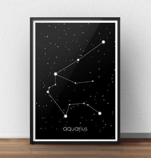 Poster z gwiazdozbiorem Wodnika (Aquarius) http://scandiposter.pl/plakaty/143-plakat-ze-znakiem-zodiaku-wodnik.html
