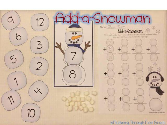 Add a snowman fluttering through first grade pinterest facts and