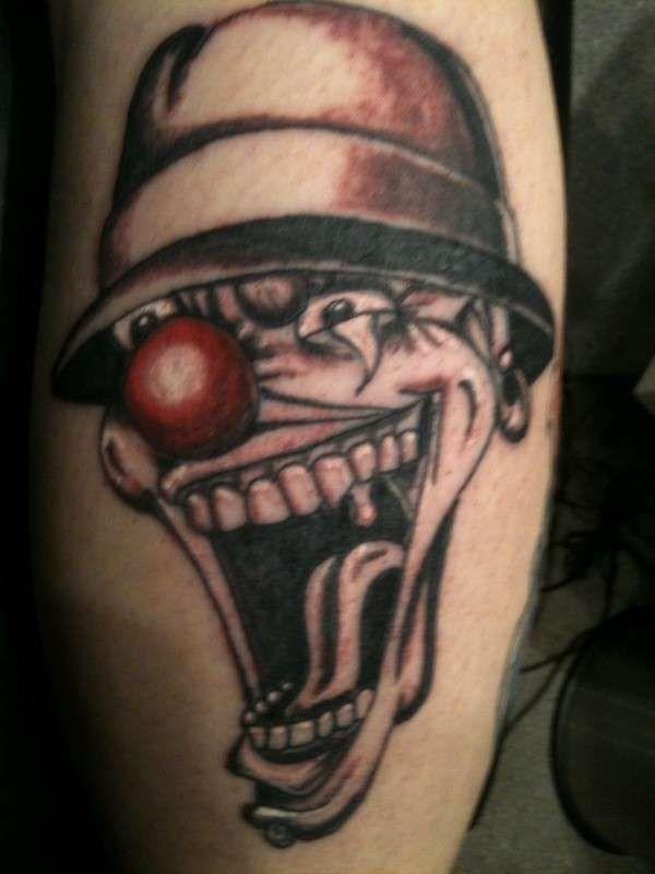 Gangster Face Tattoo Red Nose Joker Face Gangster