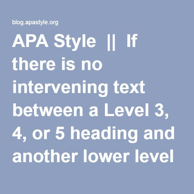 Best 25+ Apa style paper ideas on Pinterest Apa style writing - research paper format
