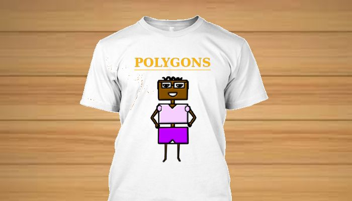 Camisetas personagens originais Familia Polygons -Retangelo