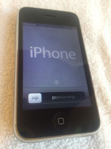 Apple iPhone 3G 8GB Black # A1303 AT&T Cracked Back | eBay