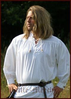 Mittelalter-Hemd, weiß