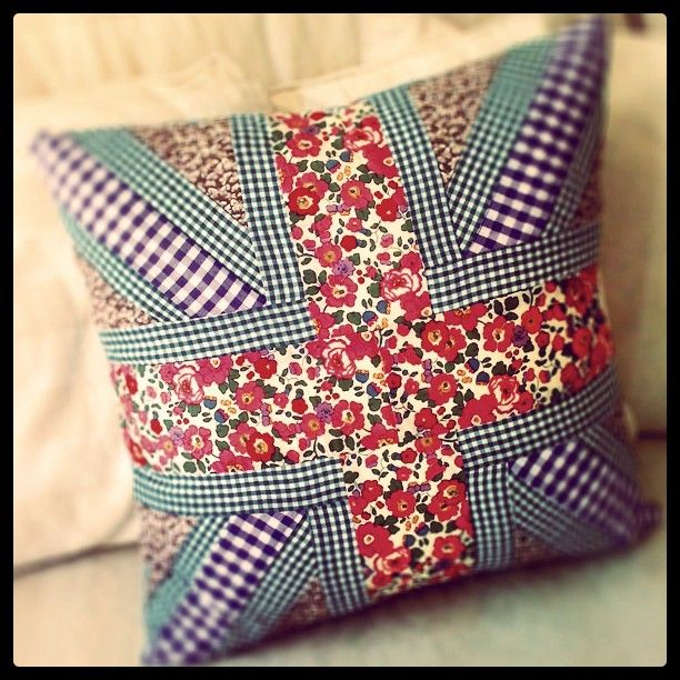 Gorgeous Union Jack handmade Liberty Print cushion