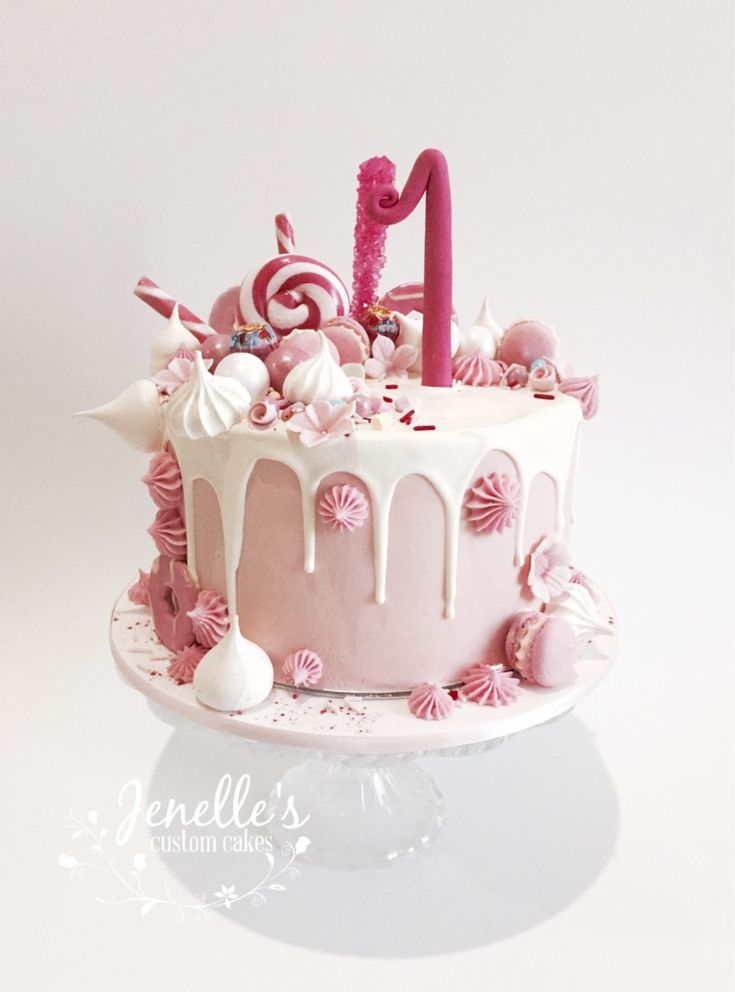 Pink Drip Cake By Jenelle S Custom Cakes Jenelle S