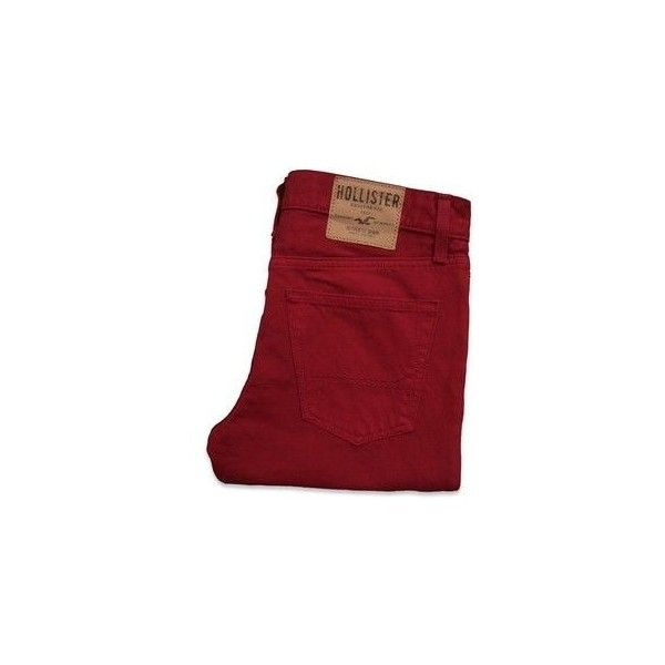 Hollister Co Hollister Skinny Jeans ❤ liked on Polyvore featuring jeans, cut skinny jeans, red skinny leg jeans, skinny leg jeans, skinny fit jeans and vintage skinny jeans