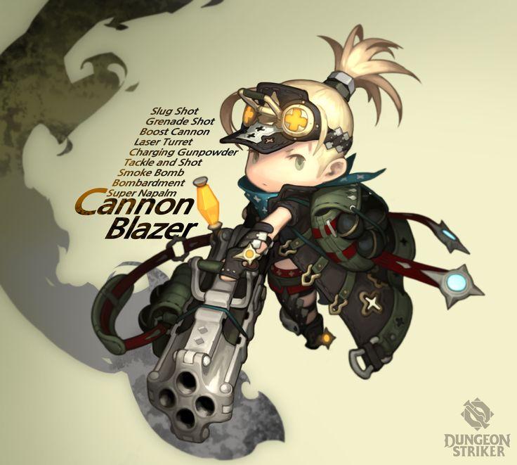 Dungeon Striker - Cannon Blazer female / from Dungeon Striker fansite kit