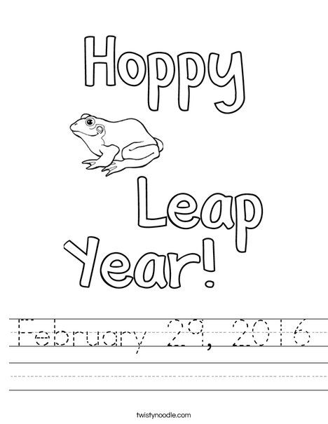 coloring pages for leap year - photo#10