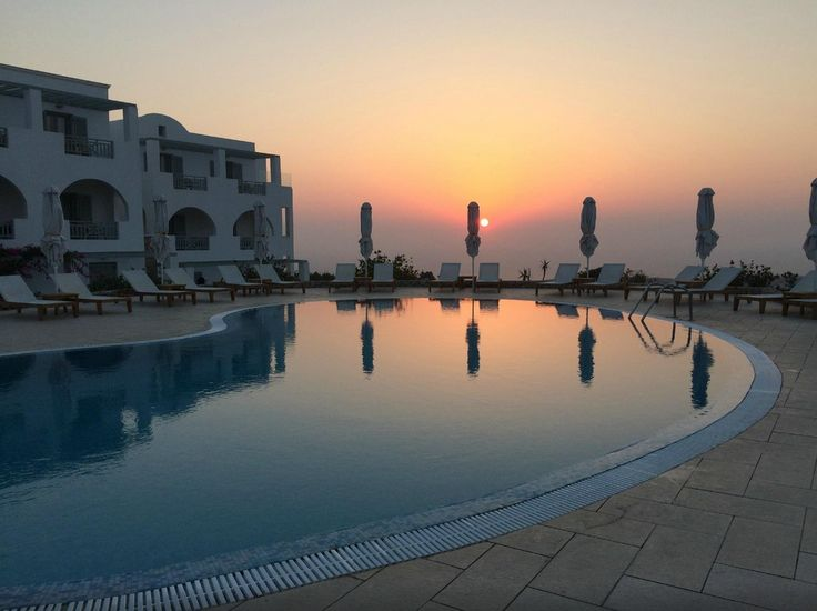 Sunrise over the pool by guest Michael B at TripAdvisor   www.astro-palace.com