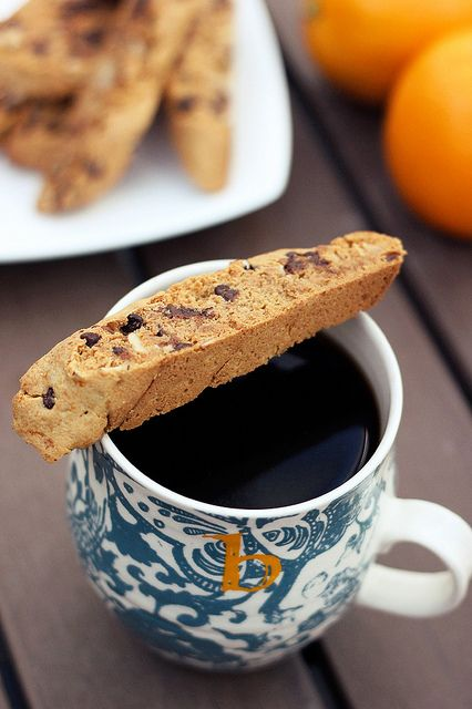 Paleo Chocolate Dipped Orange Biscotti