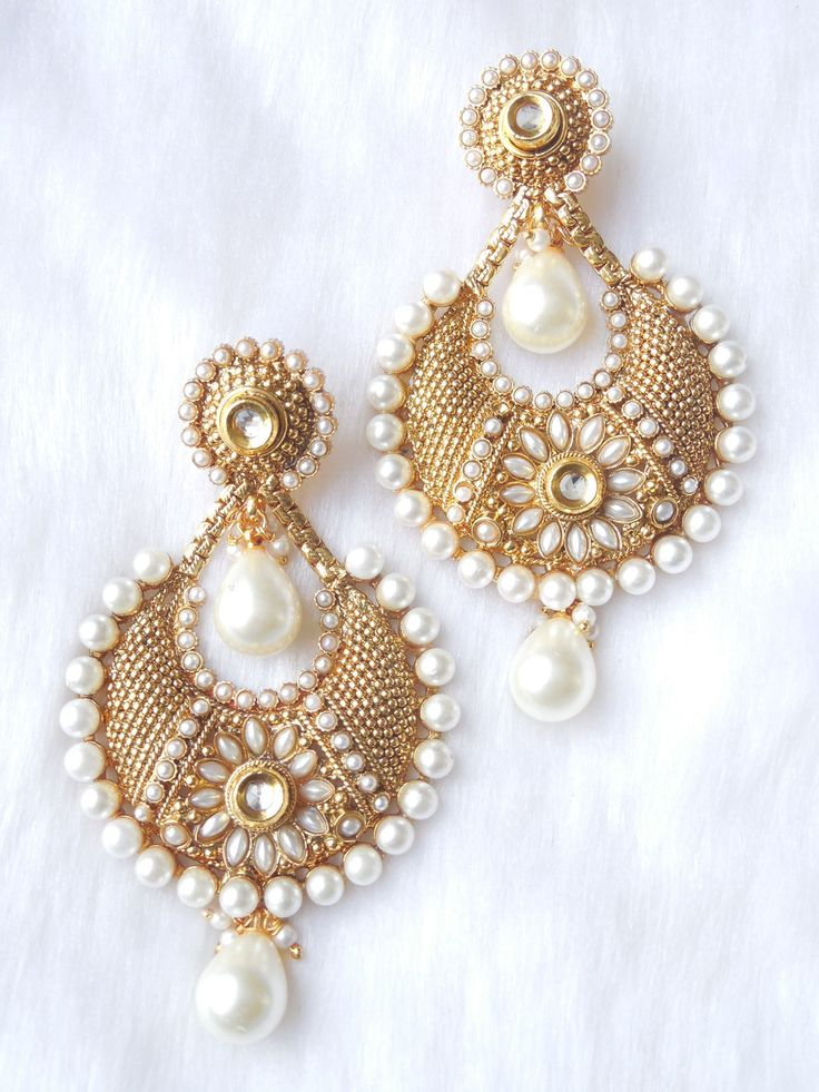 Indian Jewelry Store | Swasam.com: Polki Earings - Earrings - Jewelry Shop to Buy The Best Indian Jewelry http://www.swasam.com/jewelry/earrings/polki-earings-3986.html?___SID=U #indianjewelry #indian #jewelry #earrings