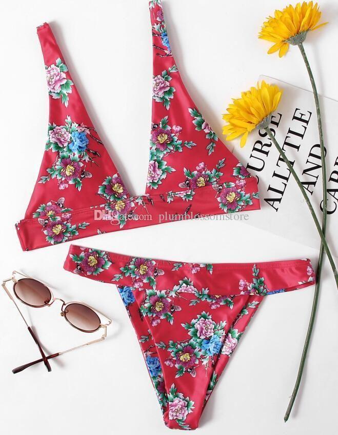 837f812f90f9 Women swimwear Chinese style printed Strap Lace-up Bikinis summer beach two-piece  Swimsuit sexy Brazilian Thong bathing suit swimming set #swimsuits,#bikini  ...